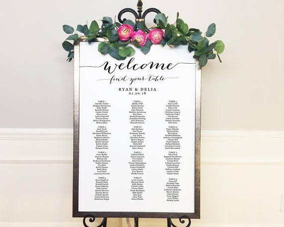 Seating Plan Printable, Seating Plan for Wedding, Seating Plan