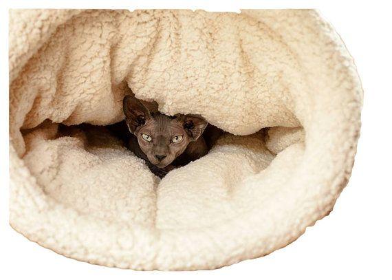 Cat Bed, Cat Cave Cat Cocoon Cat Pod, Pet Bed, Cat House, Dog Bed, Burrow  Bed, Snuggle Sacks