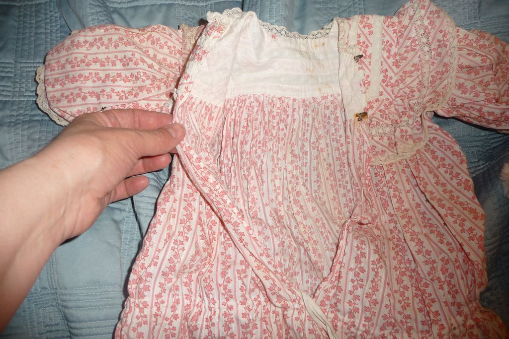 Fabulous antique factory original doll dress