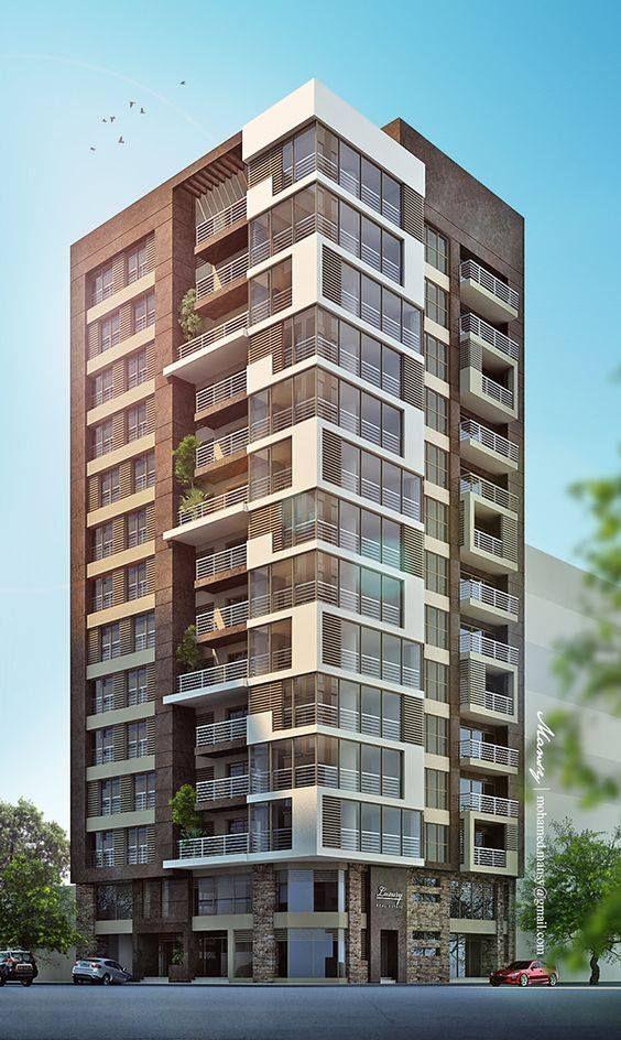 واجهات عمارات سكنية وادارية For Architects Facade Architecture Apartments Exterior Architecture Building