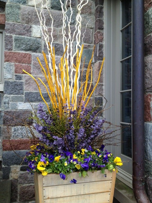 Spring For Some Color Spring Planter Spring Flower Arrangements