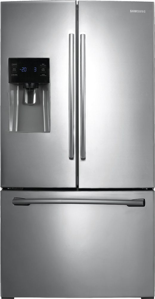 Samsung 24.6 french door refrigerator black stainless