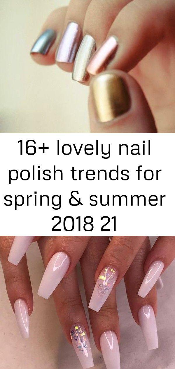 16+ lovely nail polish trends for spring & summer 2018 21