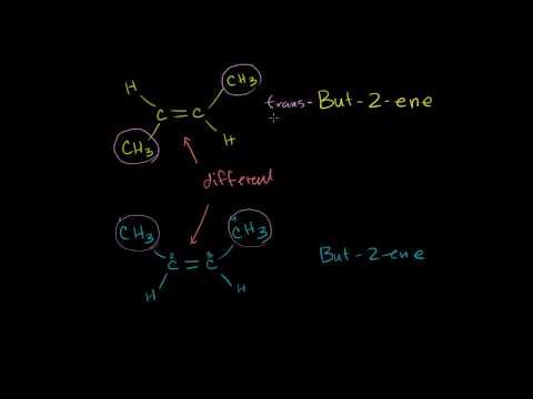 Cis-Trans and E-Z Naming Scheme for Alkenes - alkene is a