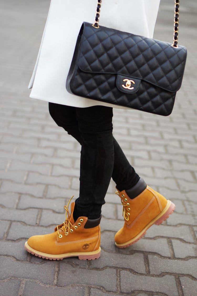 bottes style timberland femme