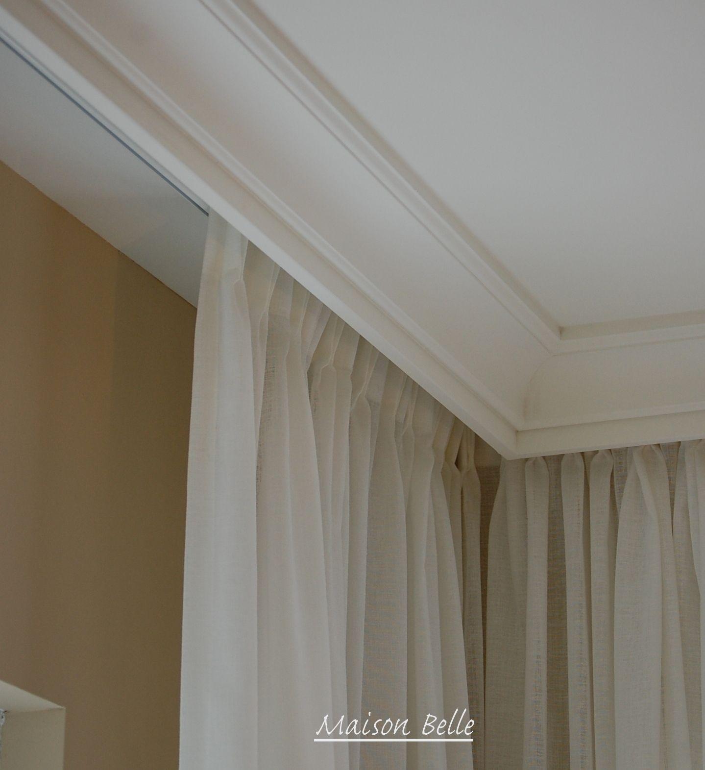 Wonderlijk Sierlijst om gordijnrails (met afbeeldingen) | Gordijnen, Interieur VX-79