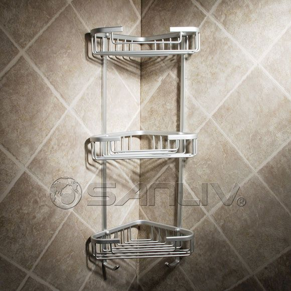 Triple Tier Shelf Corner Shower Soap Basket Master
