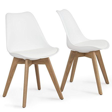 Belleze Retro Dsw Eames Style Molded Plastic Chair Side Premium Wooden Leg