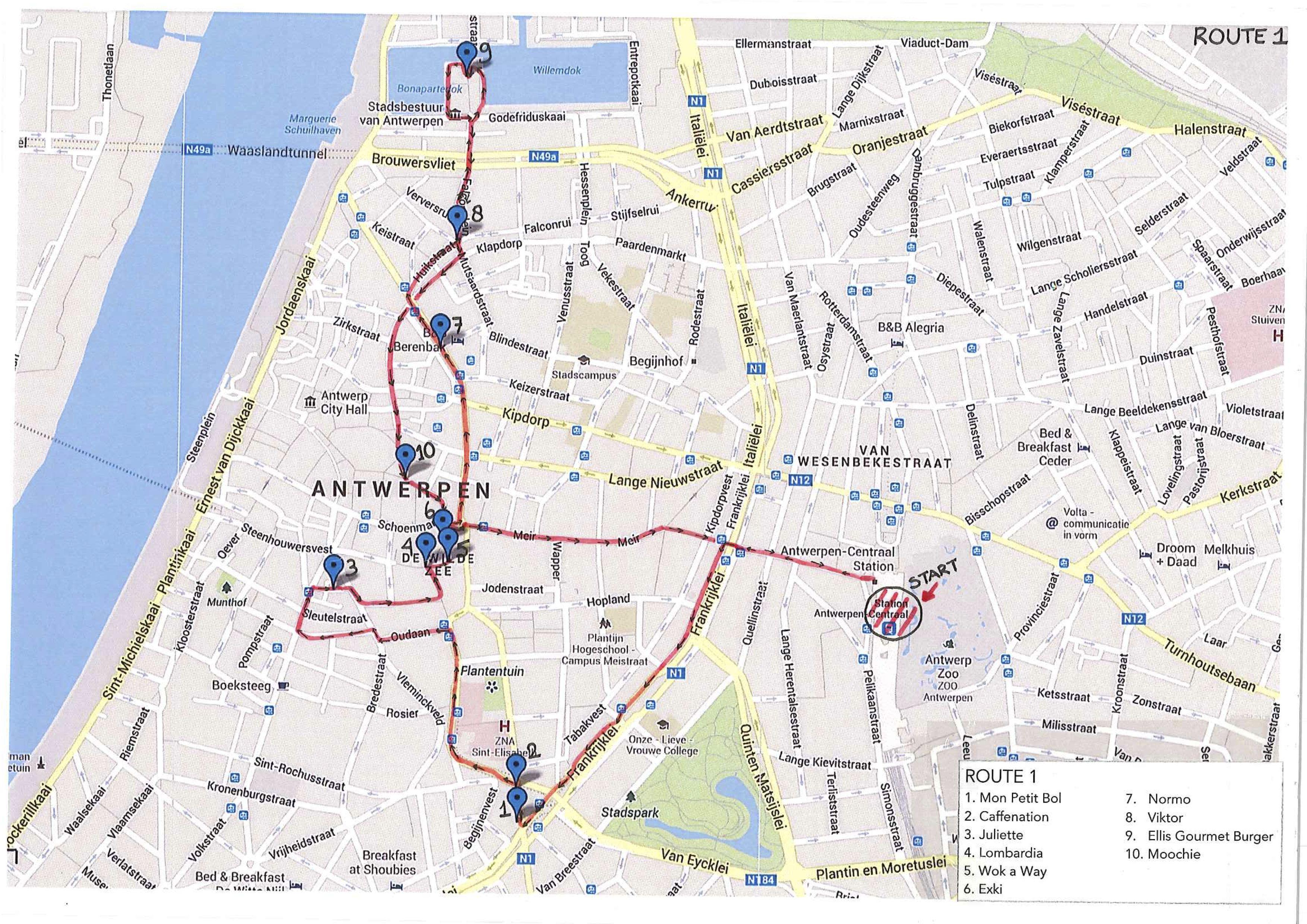 Route Trend Tour Antwerpen (10 locaties)