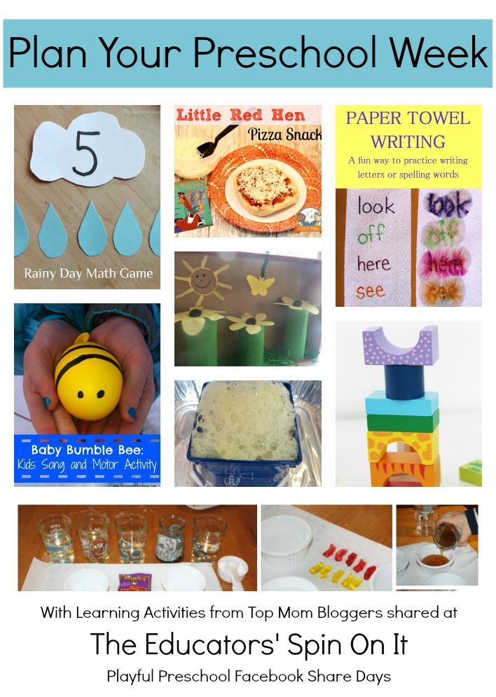 Playful Preschool Lesson Plans Math, Homeschool and School - preschool lesson plan