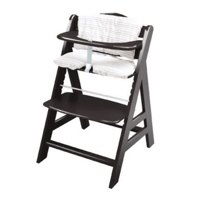 Hauck Alpha Chair In Black Bedbathandbeyond Com Wooden Baby High Chair Wooden High Chairs Low Beach Chairs