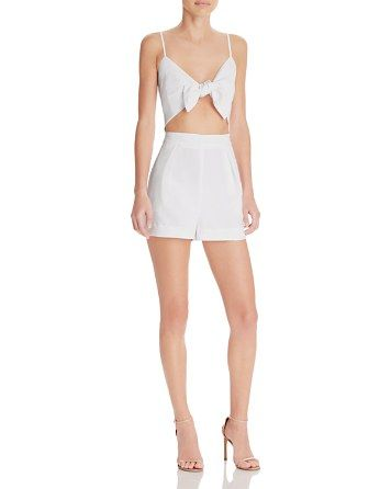 67bc78bee15 Kendall and Kylie Tie Front Romper - Bloomingdale s