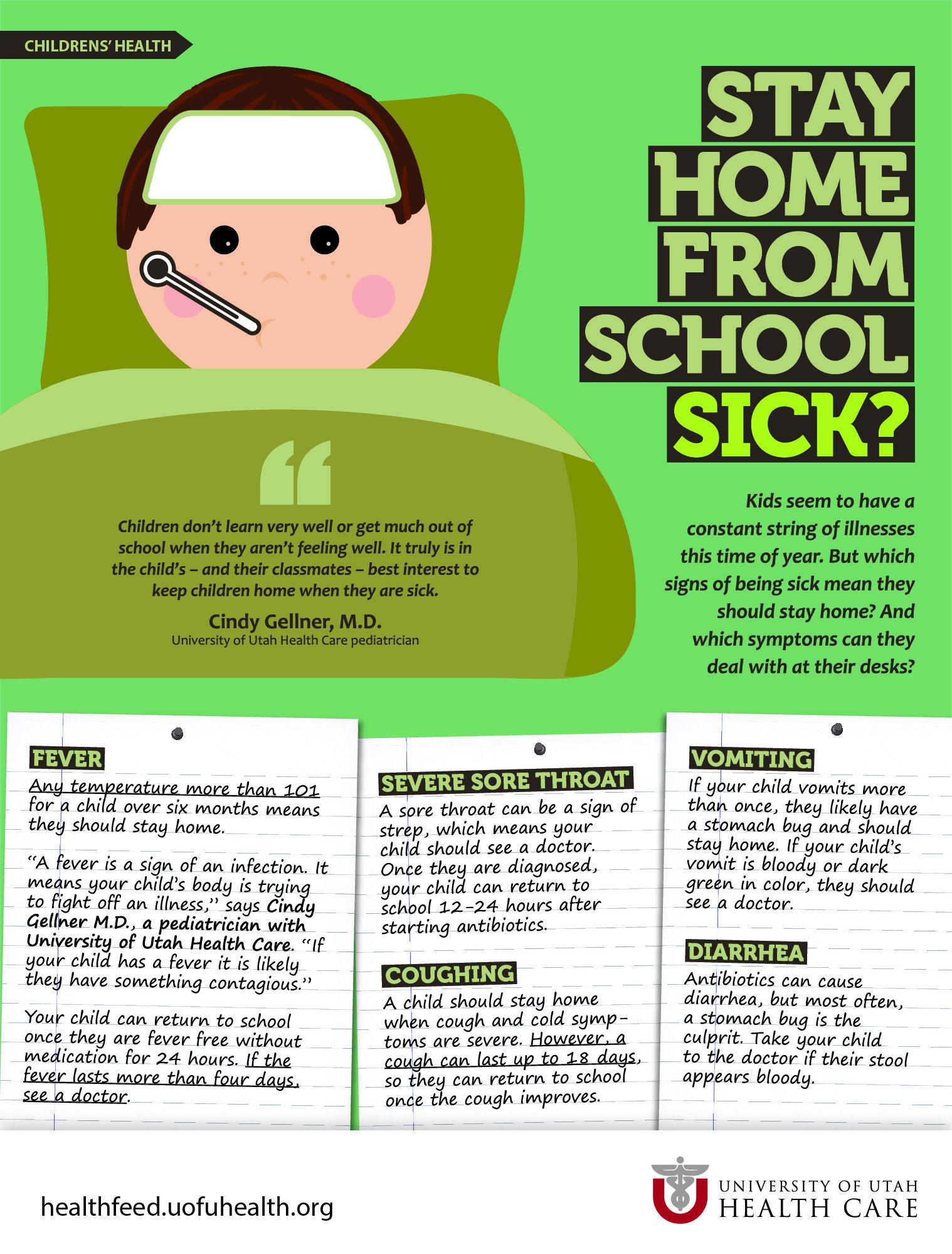 When Sick Kids Should Stay Home | Health Feed, University of Utah ...