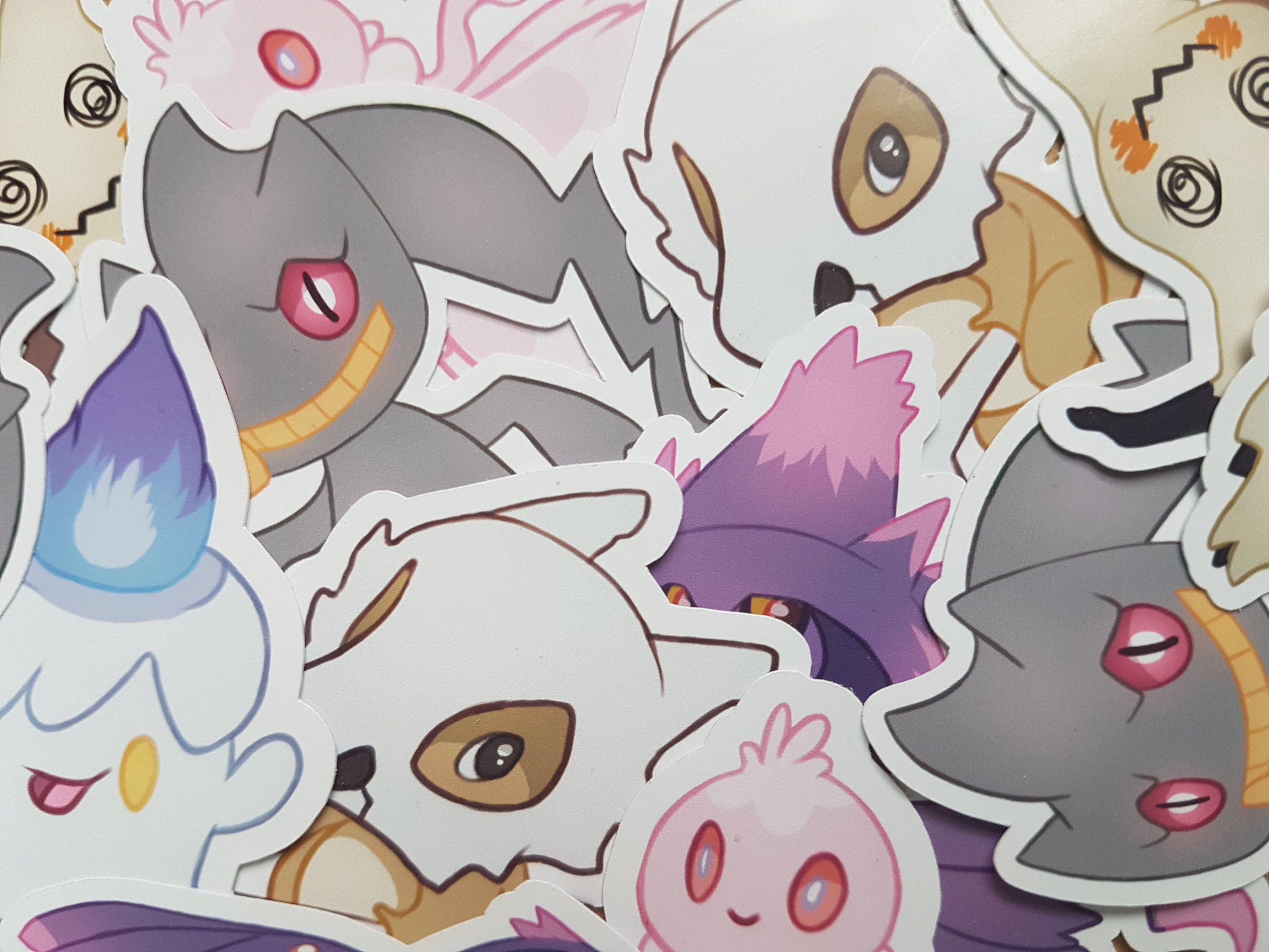 Pokemon / Ghost / Sticker / Cubone / Litwick / Mismagius / Mimikyu /  Halloween/ Geek / Video Game / Laptop / Planner / Journal / Kawaii |  Mimikyu, Ghost pokemon, Pokemon