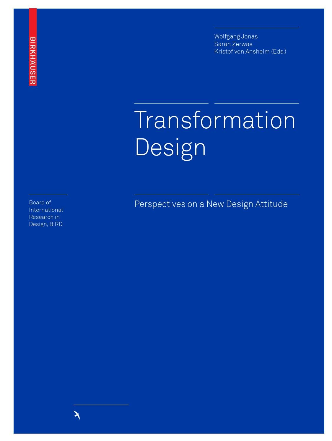Transformation Design Design Thinking Design Theory Human Centered Design