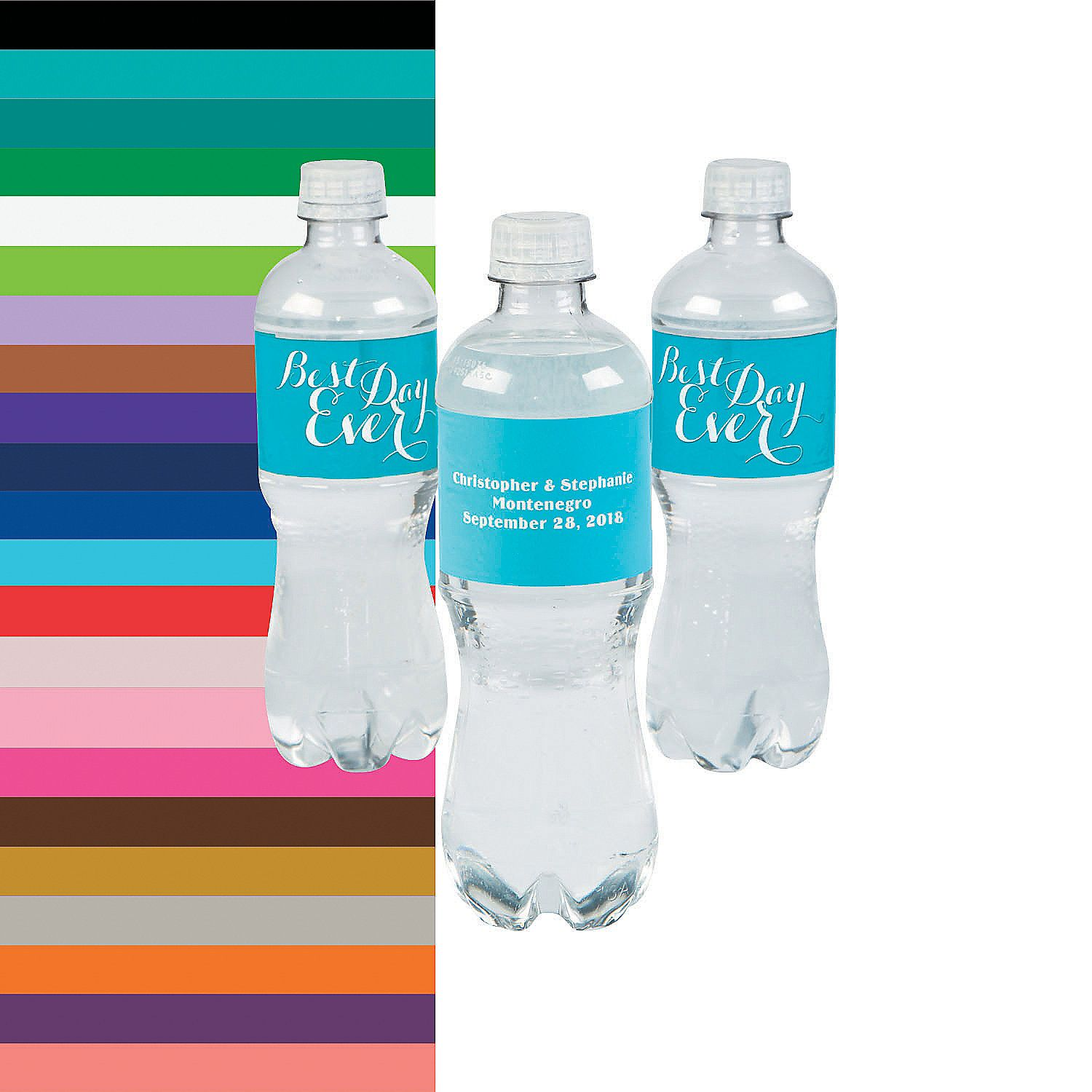 Personalized Best Day Ever Water Bottle Labels - OrientalTrading.com ...
