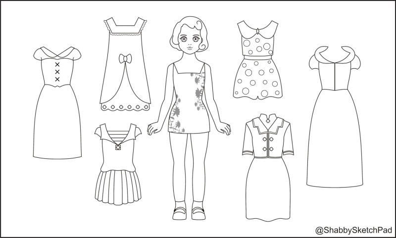 Paper Doll Template | Paper Dolls Coloring Page | Paper dolls ...