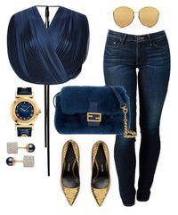 """""""She won"""" by fashionkill21 ❤ liked on Polyvore featuring Tome, THVM, Tom Ford, Fendi, Linda Farrow, Vita Fede and Versace"""