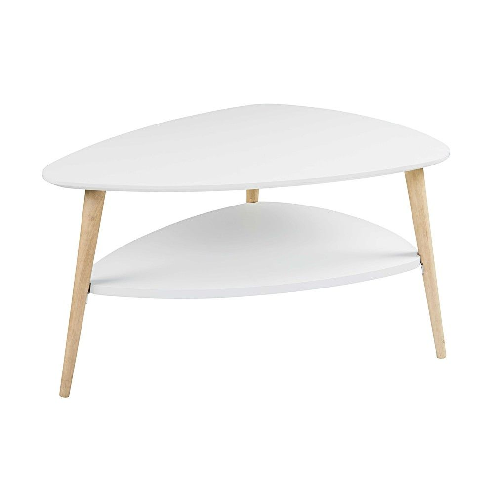 Table Basse Style Scandinave Blanche Table Basse Bois