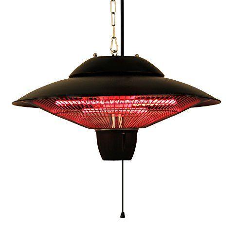 Ener G Indoor Outdoor Ceiling Electric Patio Heater Black Patio Heater Outdoor Heaters Natural Gas Patio Heater
