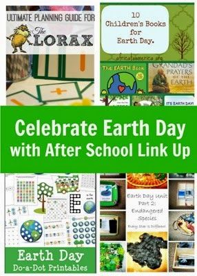 Celebrate Earth Day and After School Link Up  Earth day Book