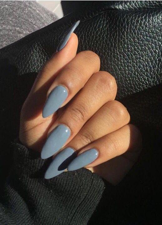 Grayish Blue Nails Pretty Nails Gorgeous Nails Beautiful Nails