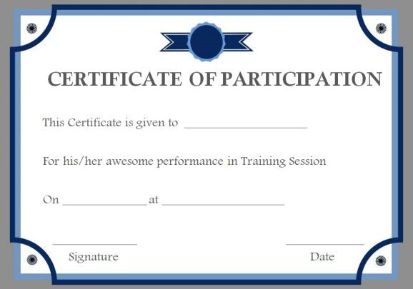 Training Participation Certificate Templates  Training