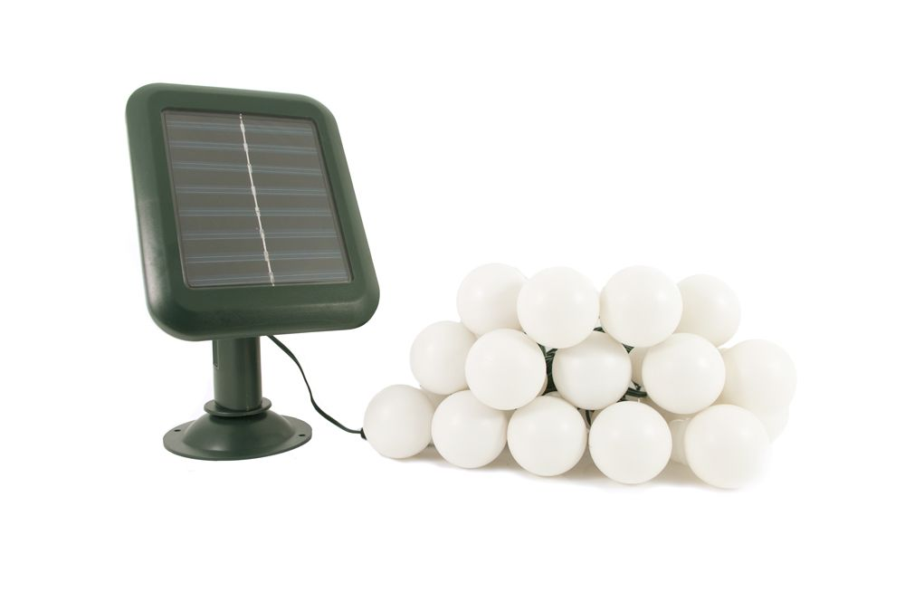 Everbright Solar Party Lights 20 White Balls Party Lights
