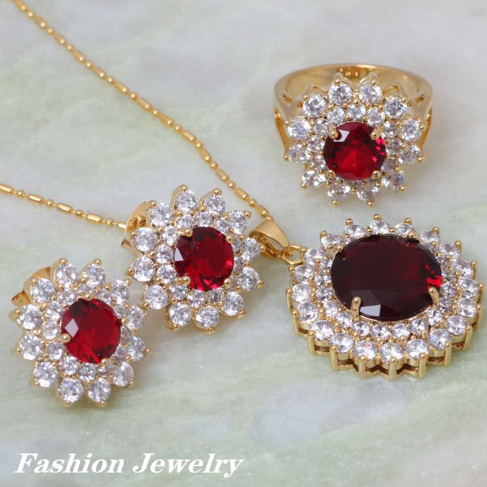 Find More Jewelry Sets Information about Unique Design 18K Gold ...