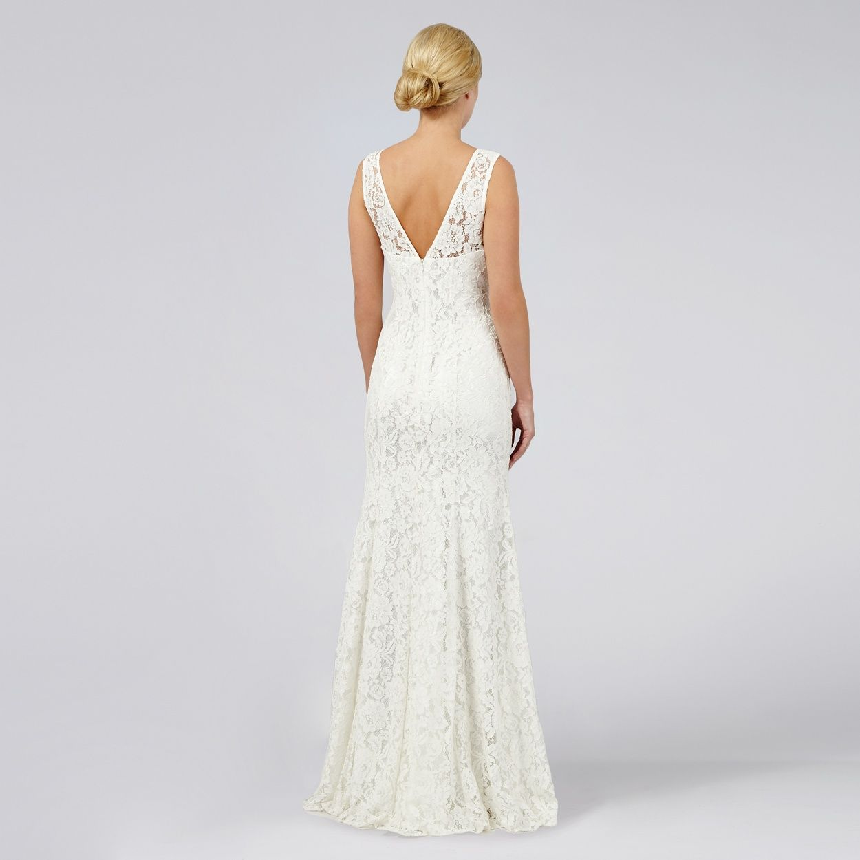 Debut elaine lace bridal dress back debenhams wedding dress debut elaine lace bridal dress back debenhams ombrellifo Gallery