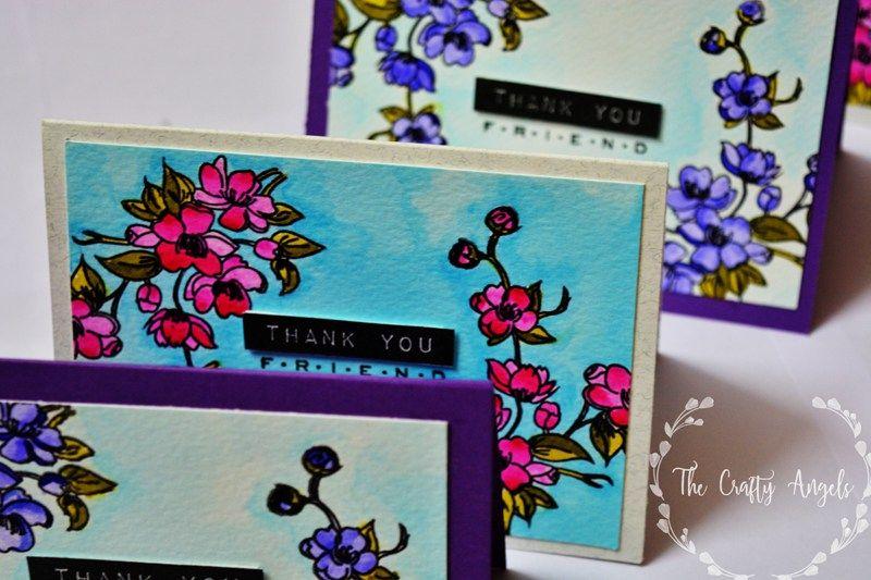 peekaboo designs indian stamp cardmaking papercraft flower card