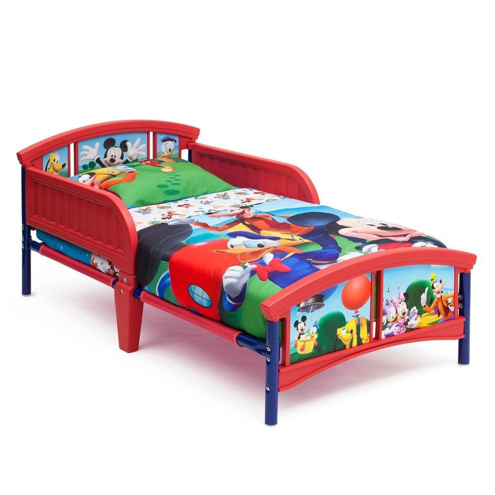 delta children disney mickey mouse plastic toddler bed disney