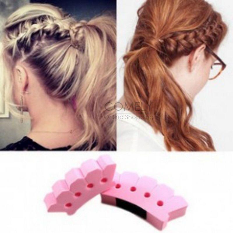 Hot Wonder Sponge Hair Braider Twist Styling Bun Braid Tool Holder Clip DIY