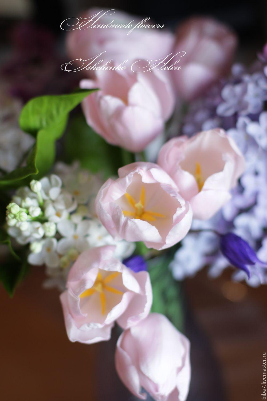 Cvety Ruchnoj Raboty Buket S Sirenyu Cvety Iz Polimernoj Gliny