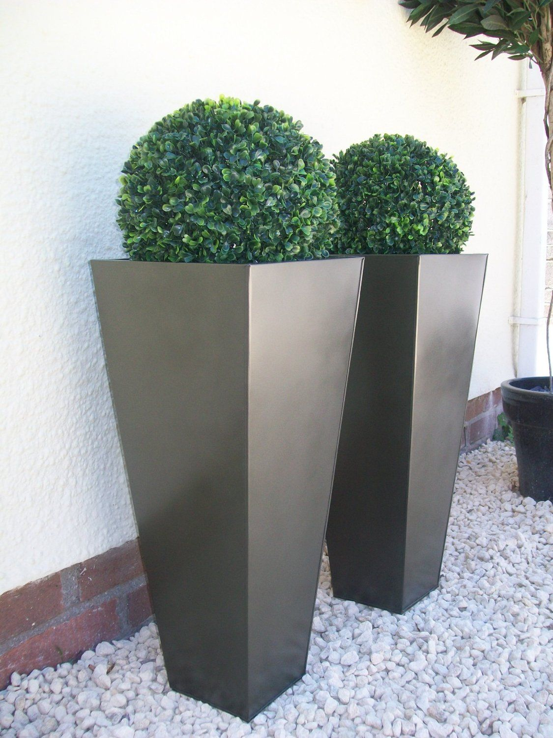 Amazon Garden Pots And Planters Savrow 2 X Artificial Buxus Topiary Balls 38cm With