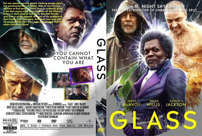2019 Movie Poster Glass: Glass (2019) DVD Custom Cover