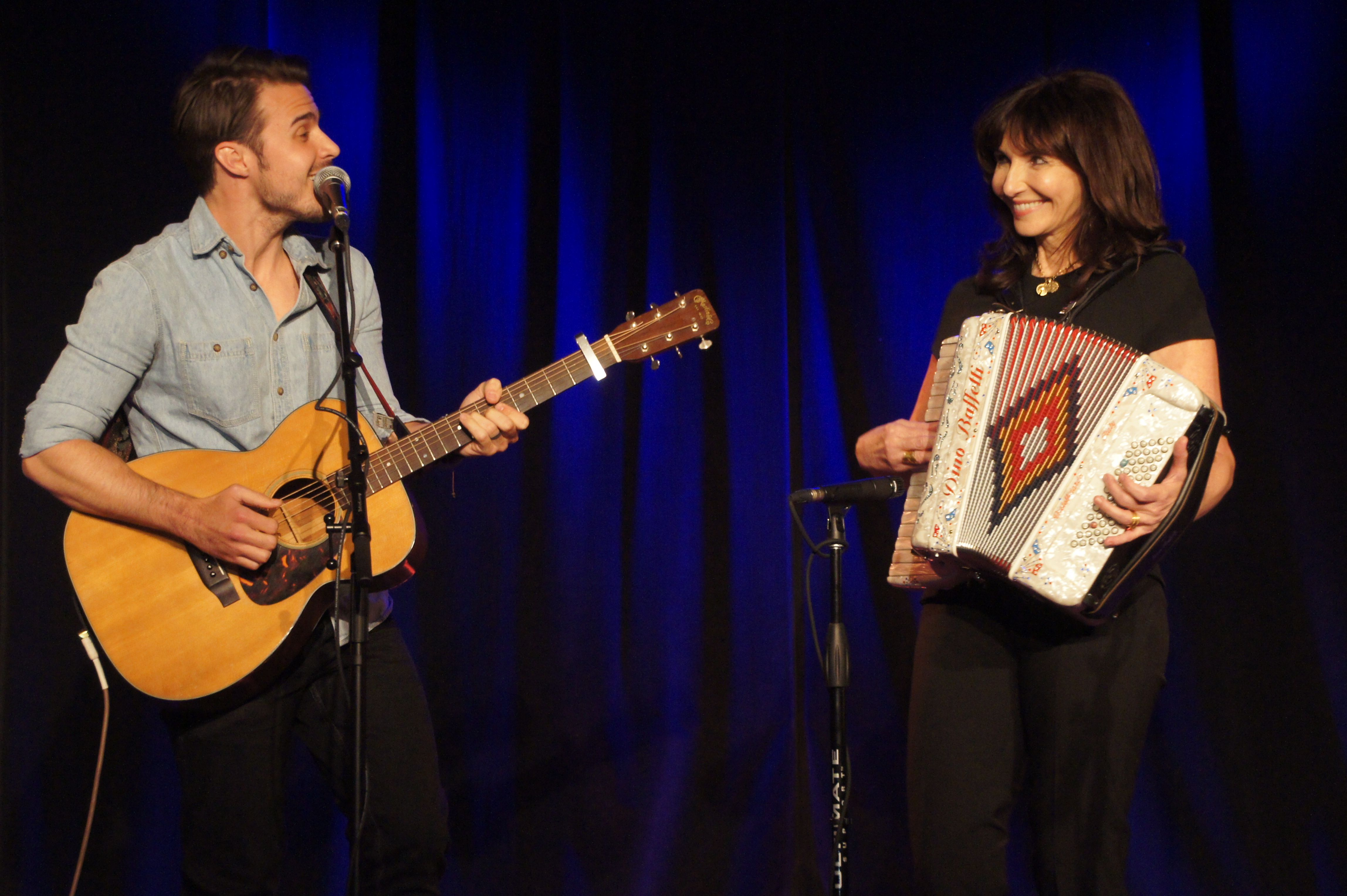 Kris Allen and Mary Steenburgen share the stage at South on Main