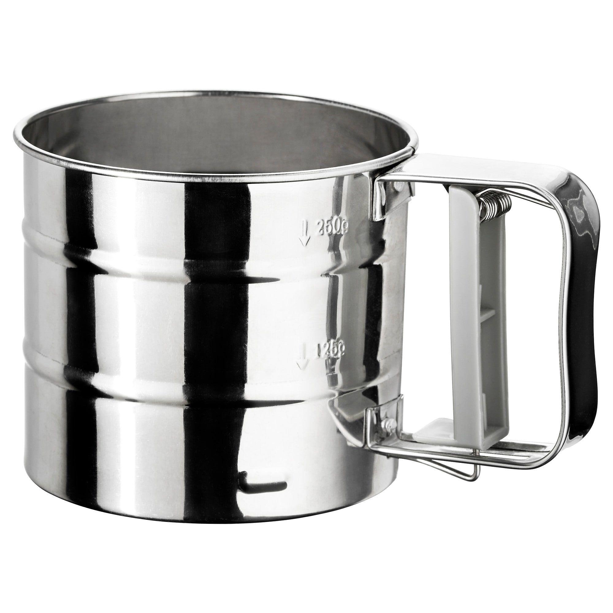 ikea idealisk flour sifter stainless steel kitchen. Black Bedroom Furniture Sets. Home Design Ideas
