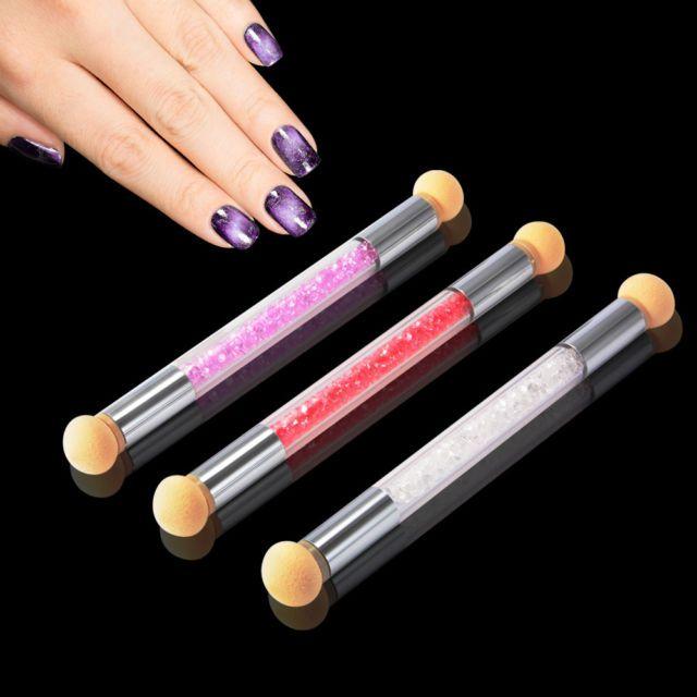 3pcs Washable Dual Head Sponge Gradient Shading Pen Brush Nail Art