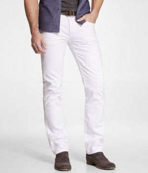 ROCCO COLORED SLIM FIT SKINNY LEG JEAN - WHITE at Express #expressholiday