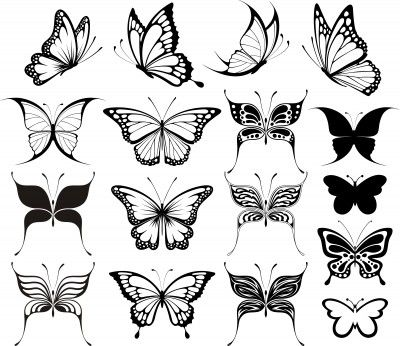 31c9b5cb8 Butterfly is a girly girly tattoo and can be made in many shapes. Click on  the image for the tutorial of Butterfly Tattoo Design.