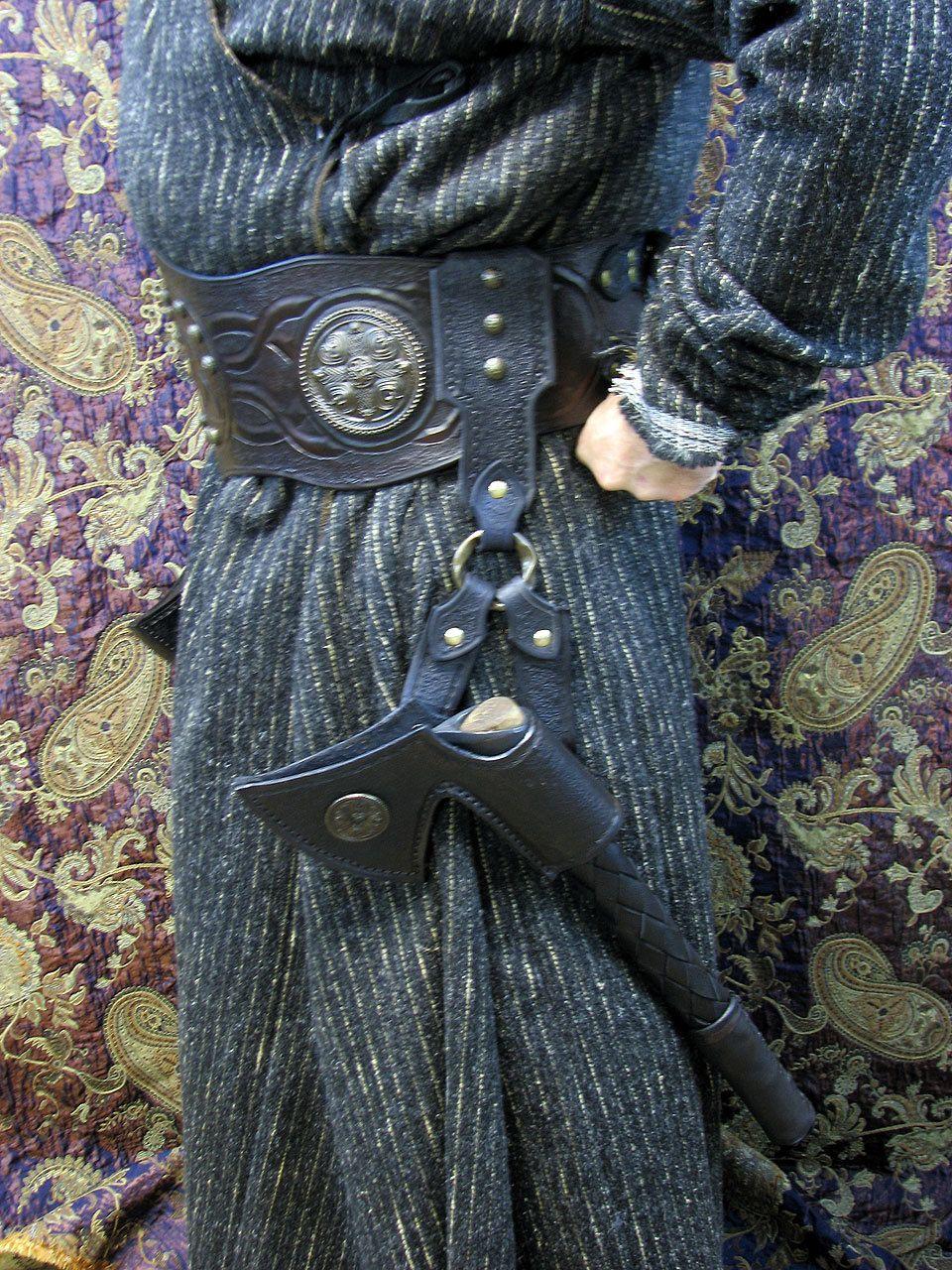 Viking or Barbarian or Berserkers Dual Axe Belt of Wielding. $425.00, via Etsy.