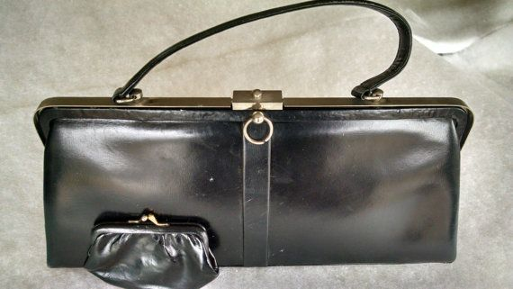 60s Leather Handbag Made In France For By Michigansmom On Etsy