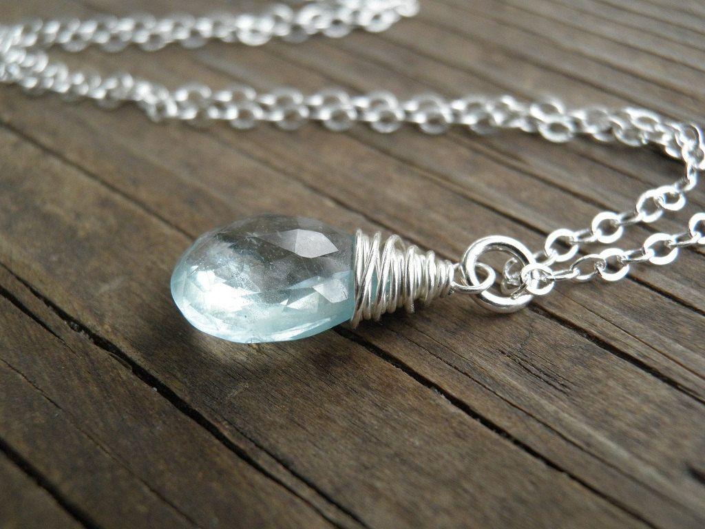 Silver+Rough+Finished+Aquamarine+Princess+Bridal+by+AnnalisJewelry,+$45.00
