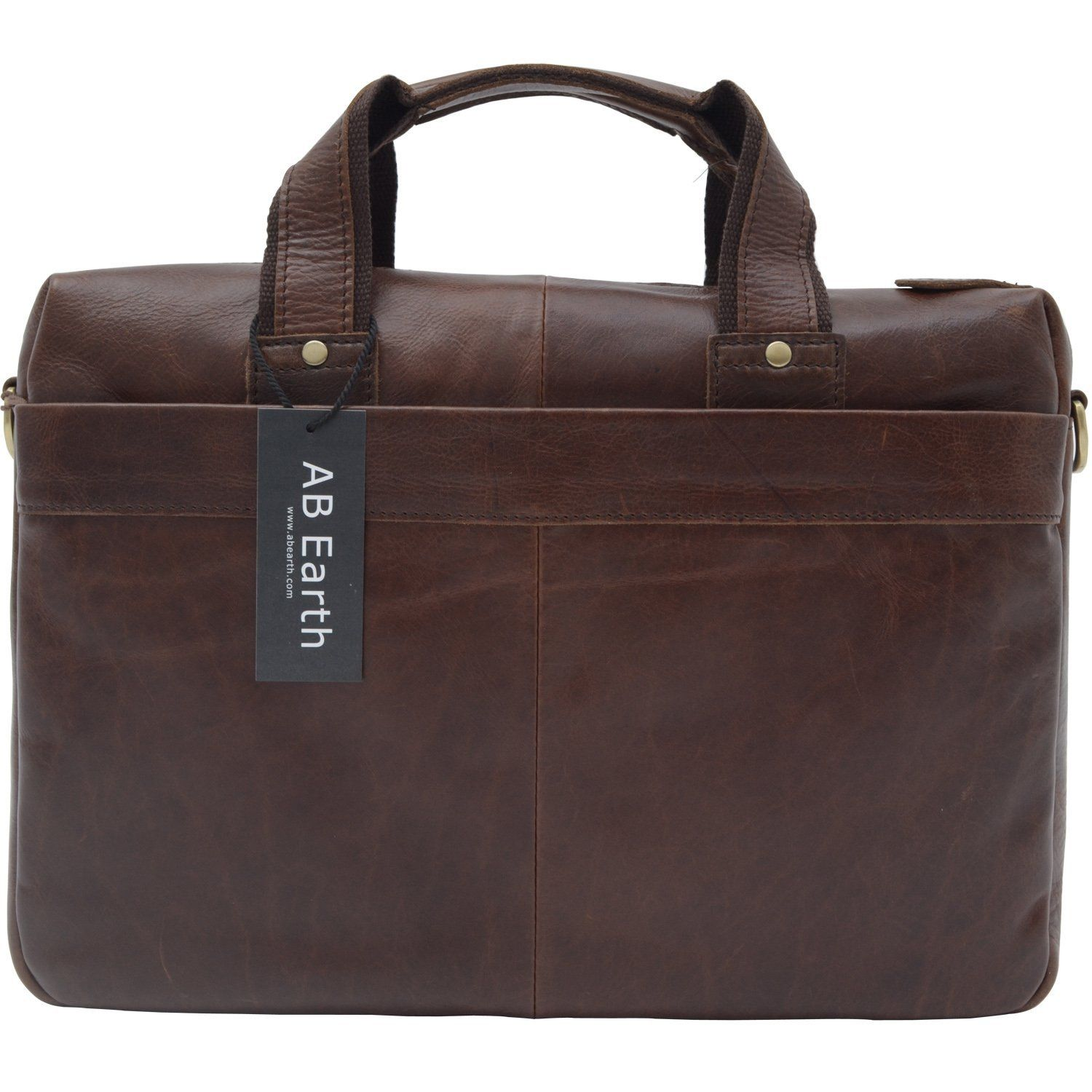 AB Earth New Vintage Leather Men's Briefcase Messenger Bag | The ...