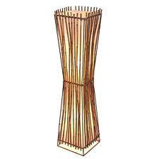 Handmade Fair Trade Square Plain Rattan Flared Floor Lamp Rt 067 100 Brown Floor Lamp