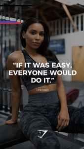 """""""Wenn es einfach wäre, würden alle es tun."""" – Unbekannte. #Gymshark #Zitate #Motivati … - Fitness..."""
