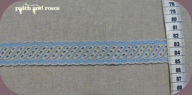 1 m Web-Einsatz-Spitze,Baumwolle,hellblau,2,8cm