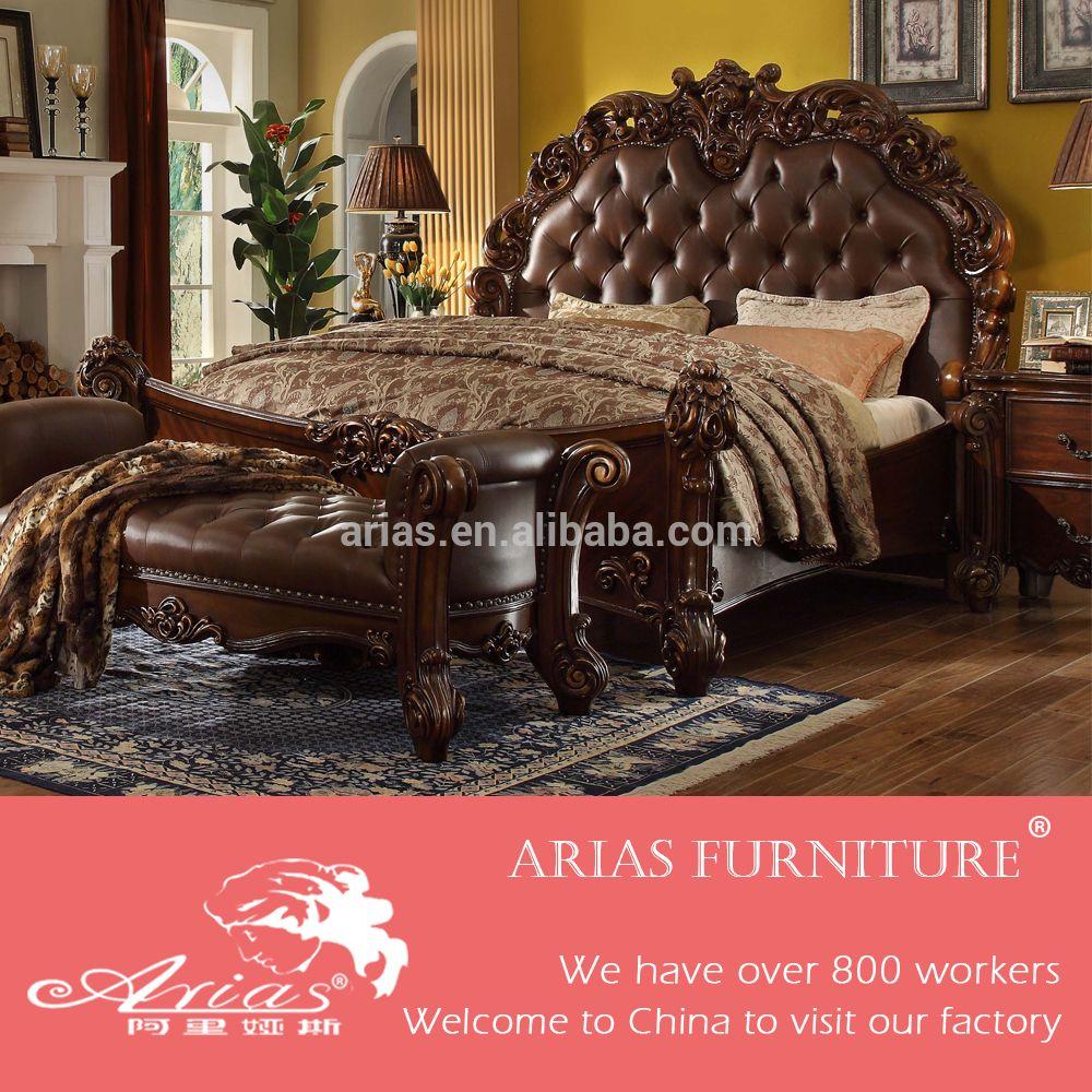 Elegant American Modern Style Royal Furniture Antique Queen Bedroom Furniture Sets
