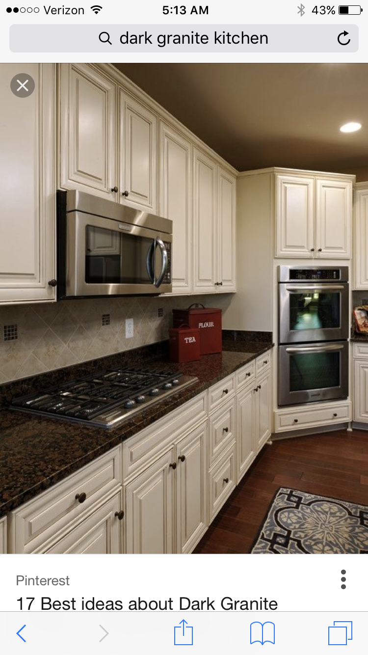 Love the cabinets and granite tops | Kitchens | Pinterest